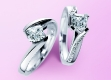 Solitaire Verlobungsringe Weißgold Diamant