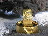 Goldene Trauringe vom Goldschmied, Solitaire Lechler Freiburg