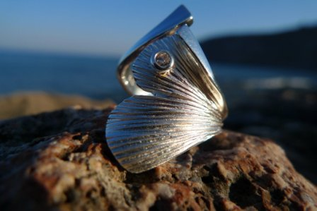Ginkgo Ring Silber