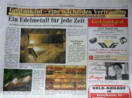 Lechler Foto in der Zeitung