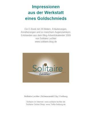 Kostenloses PDF: Impressionen aus der Werkstatt eines Goldschmieds
