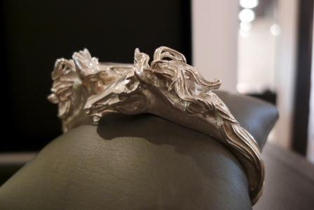 Pferdekopf-Armreif Silber