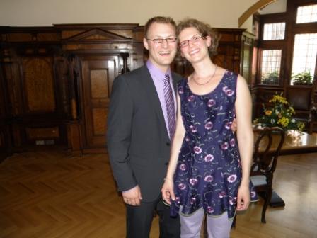 Frisch vermählt - glückliches Brautpaar