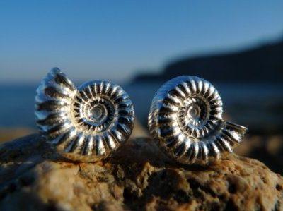 Ammonitschmuck in Silber