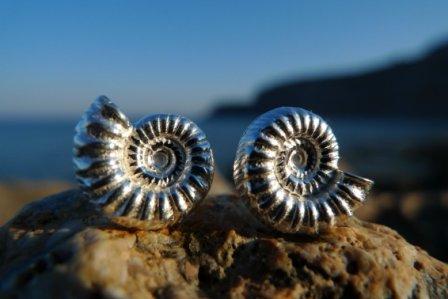 Ohrstecker Ammonit Silber