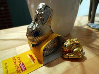 Fröhliche Ostergrüße von unserem DHL-Mann