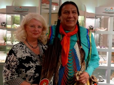 Original Blackfoot Indianer im Solitaire