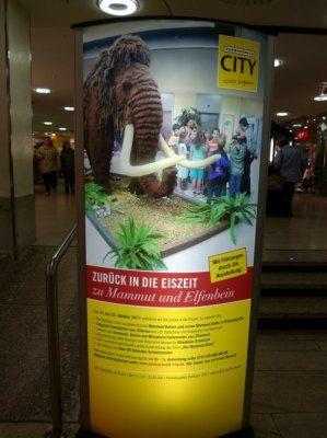 Mammutausstellung in der Schwarzwald City