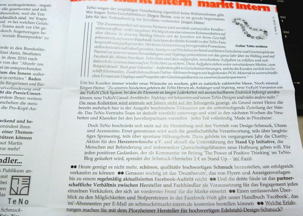 Noch ein Foto vom Beitrag in markt intern