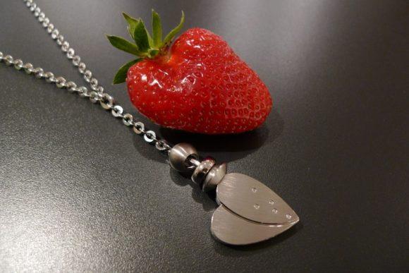 TeNo Herz an Erdbeere