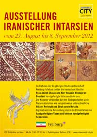 Ausstellung iranischer Intarsien