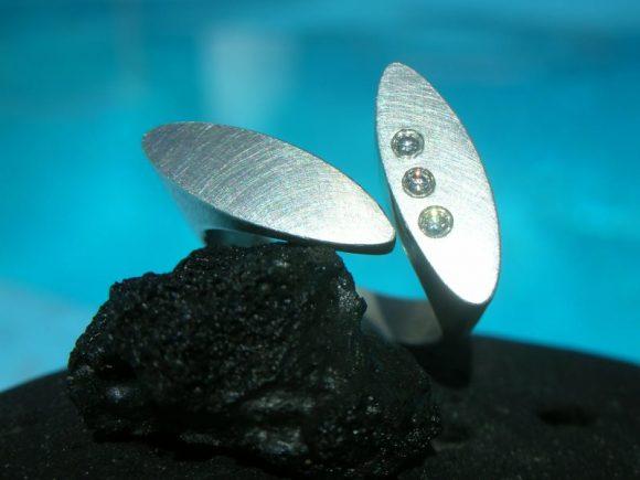 DL Ring, Silber, Brillanten