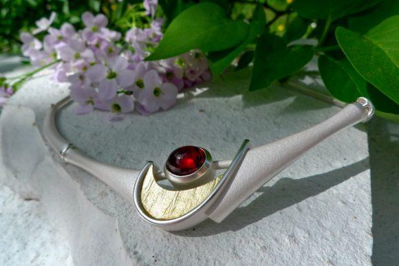 Collier Silber, Gold mit Granat von ARS