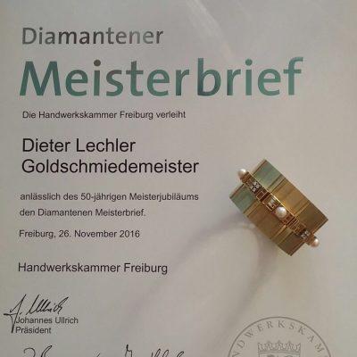 Dieter Lechler – 50 Jahre Goldschmiedemeister