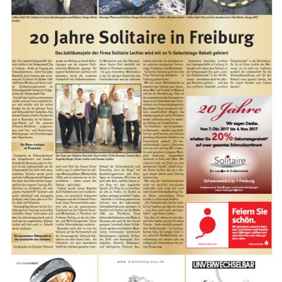 20 Jahre Solitaire – Bericht im Stadtkurier