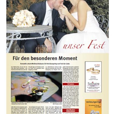 Ein Verlobungsring zum Fest der Liebe